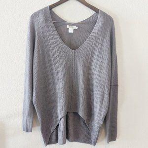 Neiman Marcus Grey Wool & Silk Sweater Small